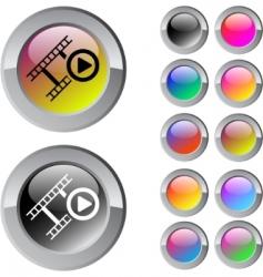 film multicolor round button vector image vector image