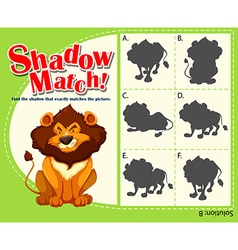 Game template with matching lion vector image