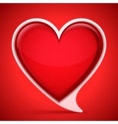 Heart shaped speech bubble vector image vector image