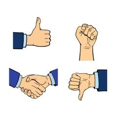 Human hands vector image vector image