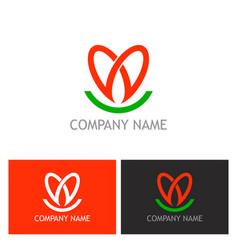 love heart logo vector image