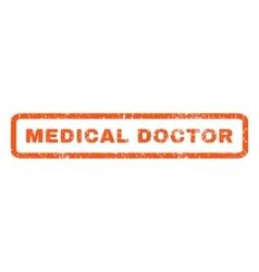 Medical doctor rubber stamp vector