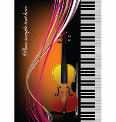 piano with violin vector image vector image