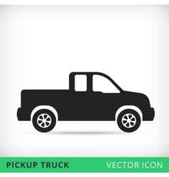 Pickup truck flat icon vector