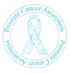 Prostate cancer awareness stamp vector