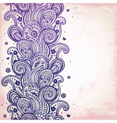 Purple ornament vector image vector image