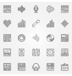 Recording studio icons set vector