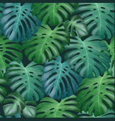 seamless tropical pattern with green vector image