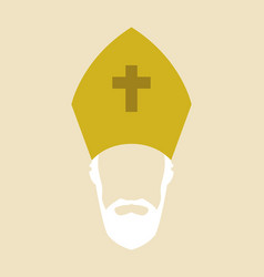 simple graphic of a roman catholic archbishop vector image vector image