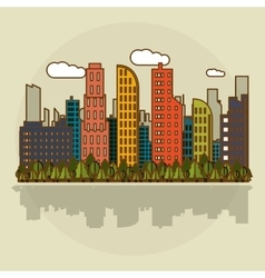 Smart city graphic design vector