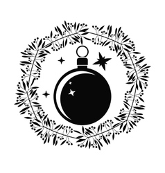 Sphere of christmas season design vector