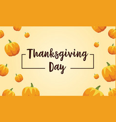 Style background with pumpkin thanksgiving card vector