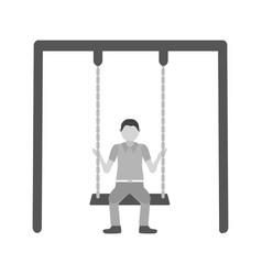 swinging vector image vector image