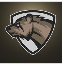 The bear symbol emblem or logo vector