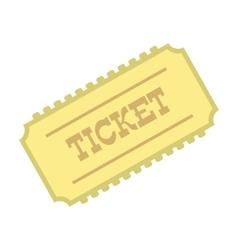 Train ticket icon vector