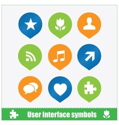 User interface symbols web flat style vector image