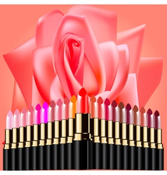 Rose lipstick background vector