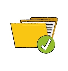 Folder data storage vector