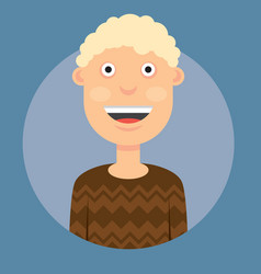 a man smiling with blond vector image