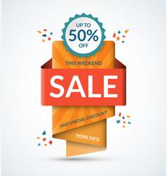 Sale banner special discount concept vector