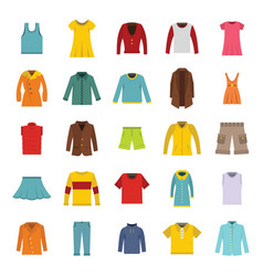 set of fashion collection vector image