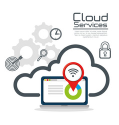 cloud services design vector image