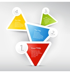 Progress steps for tutorial infographics vector image