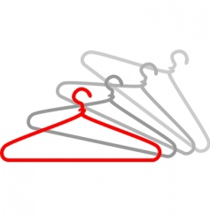 Cloth hanger vector