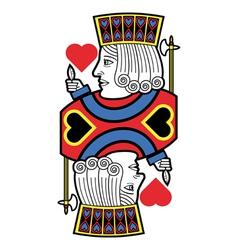 Jack of hearts no card vector image