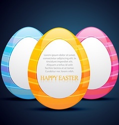 Easter eggs design vector
