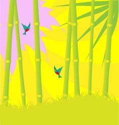 bamboo wood vector image