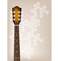 Acoustic Guitar Bridge on Brown Background vector image vector image