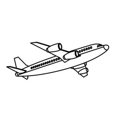 airplane fly transport commercial travel vector image