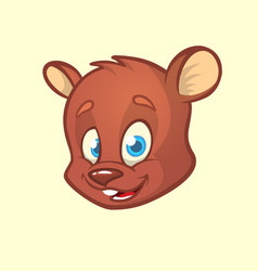 Cartoon bear head vector
