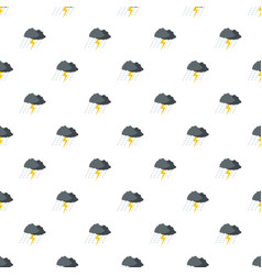cloud thunder pattern seamless vector image