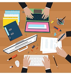 Coworking in office vector image vector image