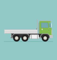 delivery transport truck van flat vector image vector image