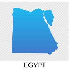 Egypt map in africa continent design vector