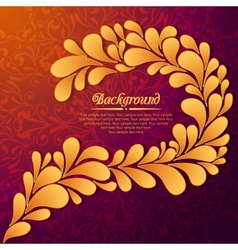 Elegant floral background with gold drops and vector image vector image