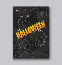 ghosts for halloween on white background cute vector image