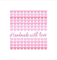 handmade logo template vector image vector image