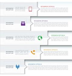 Modern minimalistic infographics template vector
