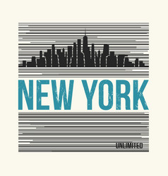 New york city t-shirt design vector
