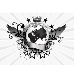 Planet Emblem vector image