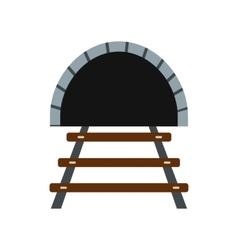 Railway tunnel icon vector