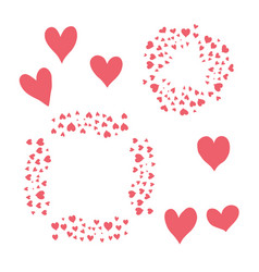 red hearts isolated on white vector image
