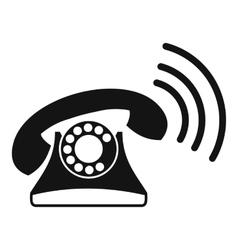 Retro phone icon simple style vector image vector image