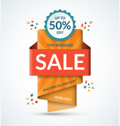 Sale banner special discount concept vector