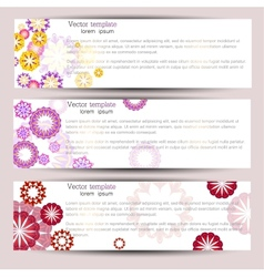 Set of three colorful banners vector image vector image
