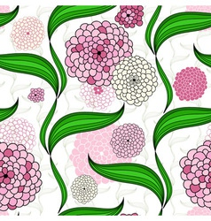 Spring seamless floral pattern vector image